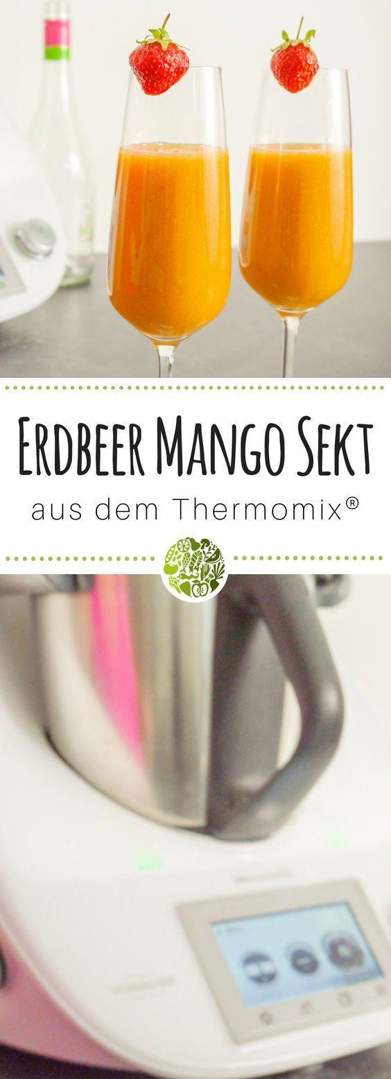 Erdbeer-Mango-Sekt aus dem Thermomix • will-mixen.de