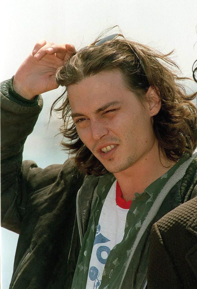 Johnny at the photocall for the movie Arizona Dream at the Cannes Film Festival on May 8th, 1992.