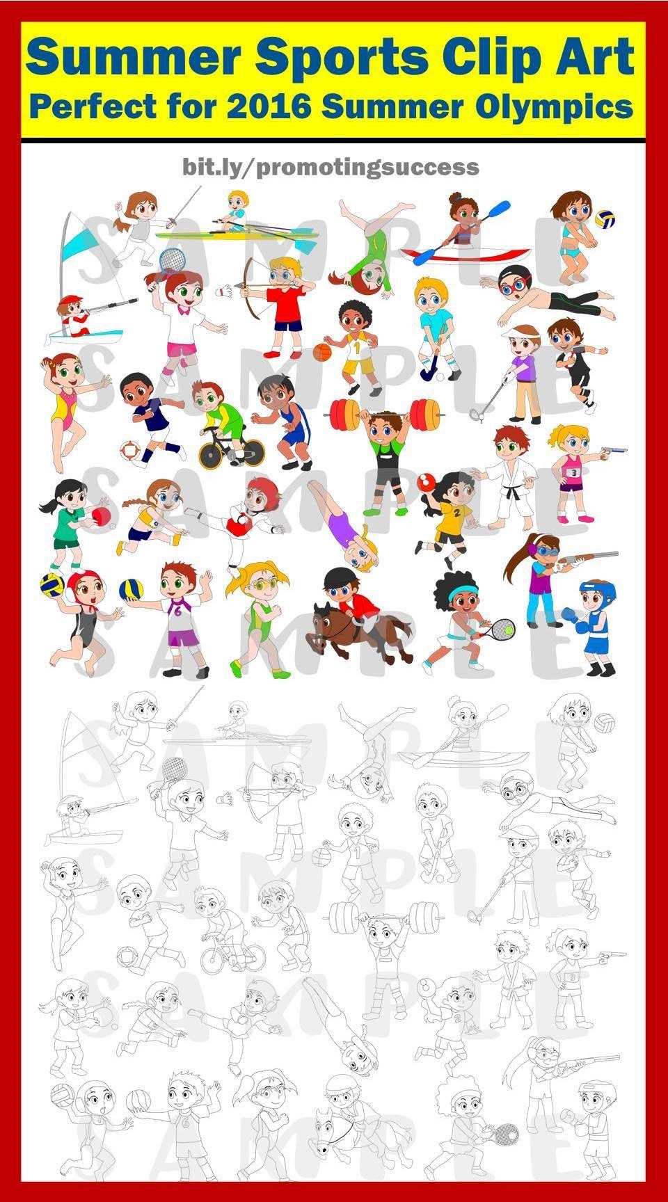 Summer Sports Clip Art | Kids olympics, Clip art, Olympic idea