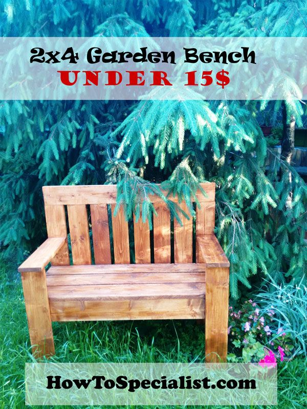 How to build a wooden bench | HowToSpecialist - How to Build, Step by Step DIY Plans