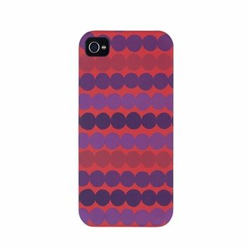iPhone users rejoice-- new colorway of Maija Louekari's fun and flirty linear dots. Also available for the iPhone 4. Marimekko Räsymatto Red/Purple iPhone 5 Case - $48