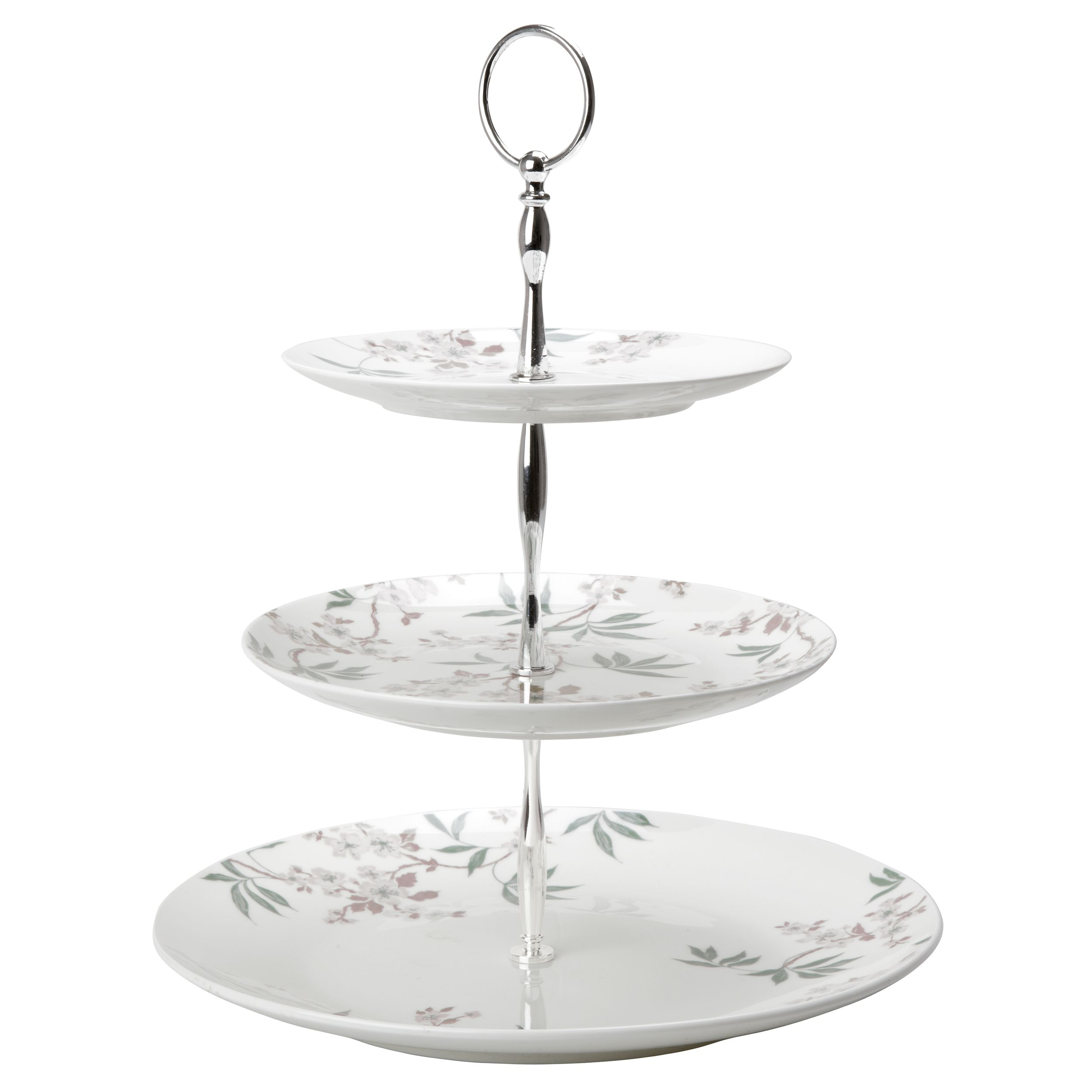 pink cake stand 3 tier