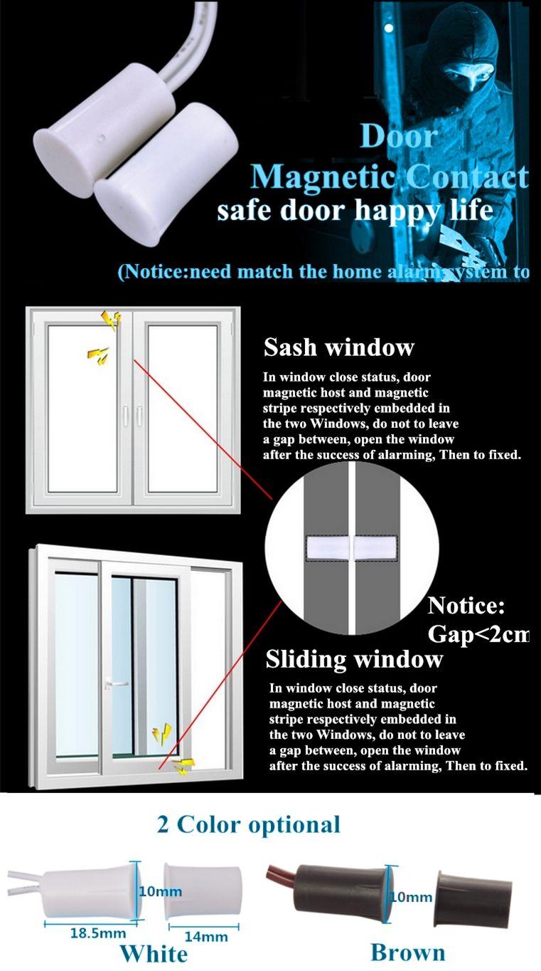 Concealed Magnetic Contact Sensor Eb 135 Safe Door Magnetic Stripe Sensor