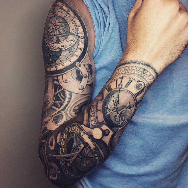Mechanical Sleeve Tattoo By Evan Salinas Tatuajes Pinterest