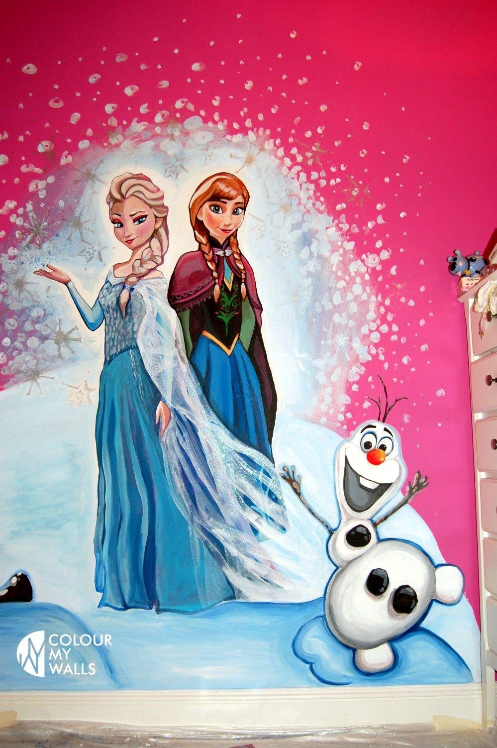 Hand Painted Frozen Mural Murals Girl Bedroom Walls Murals For