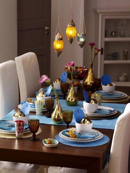 Exotische Tischdeko zum Nachmachen Tisch dekorieren