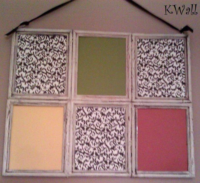 Six 8x10 Picture Frames Glued Together To Form A Window Pane