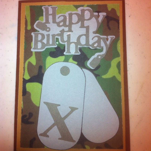 Camo birthday card crafty crafts pinterest camo birthday and camo birthday card bookmarktalkfo Image collections
