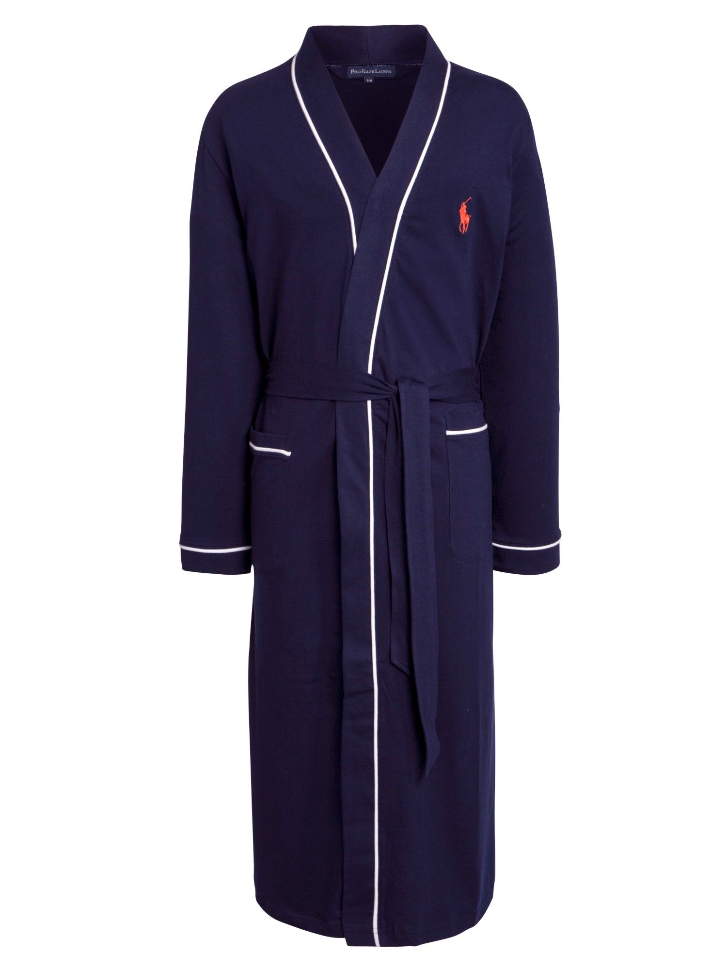 Polo Ralph Lauren Cotton Jersey Piped Dressing Gown in Blue for Men (Navy) 28619ce87