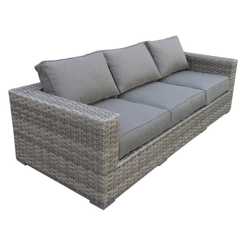Outdoor Teva Patio Bali Wicker Patio Sofa 107 So Outdoor Loveseat Charcoal Grey Cushion Patio Sofa