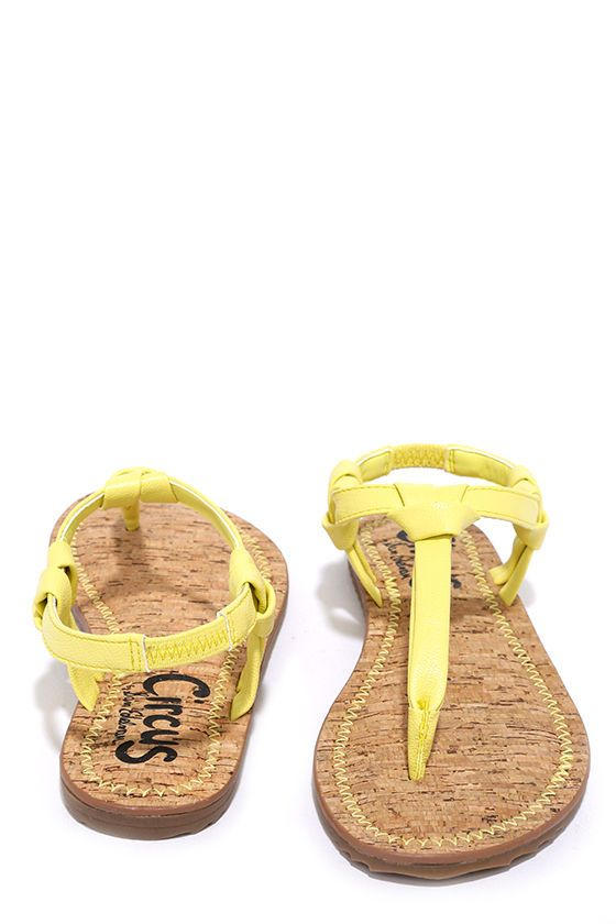 Circus by Sam Edelman Shaw Acid Yellow Thong Sandals