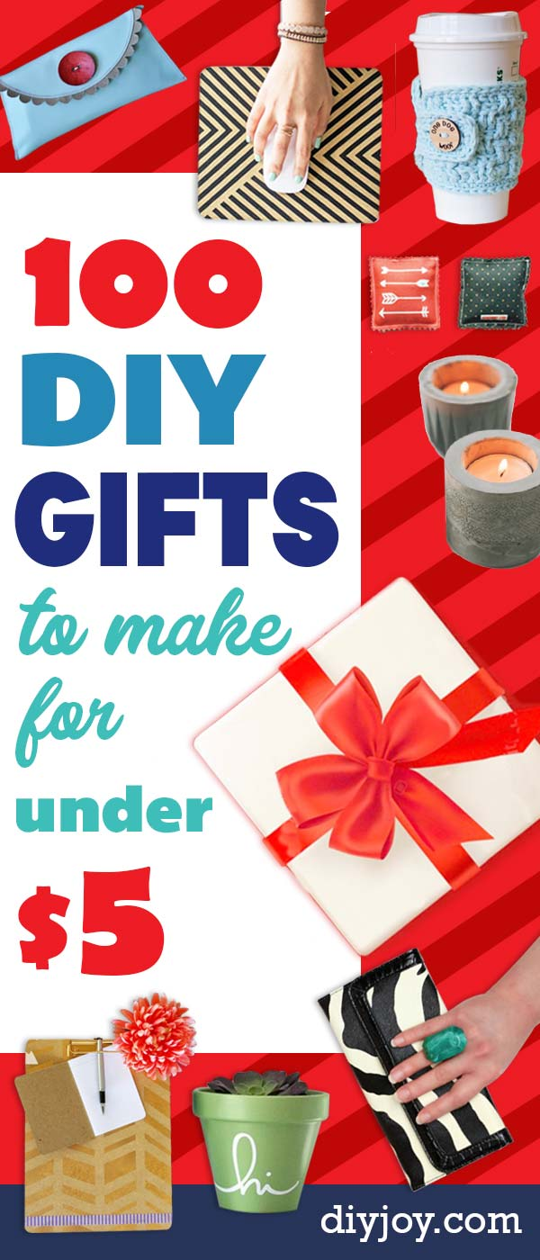 100+ Cheap DIY Gifts To Make For Under $5   Diy gifts to ...