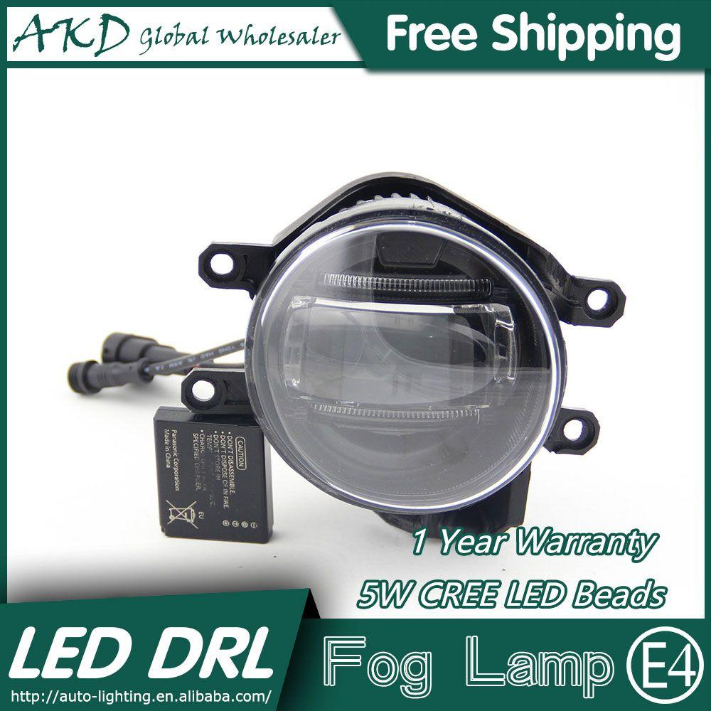 Akd Car Styling Led Fog Lamp For Toyota Prado Drl Led Daytime Running Light Fog Light Parking Signal Accessories Fog Lamps Car Lights Running Lights