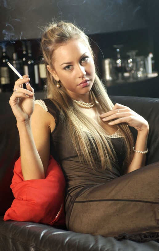 Sexy lovers who are smokers