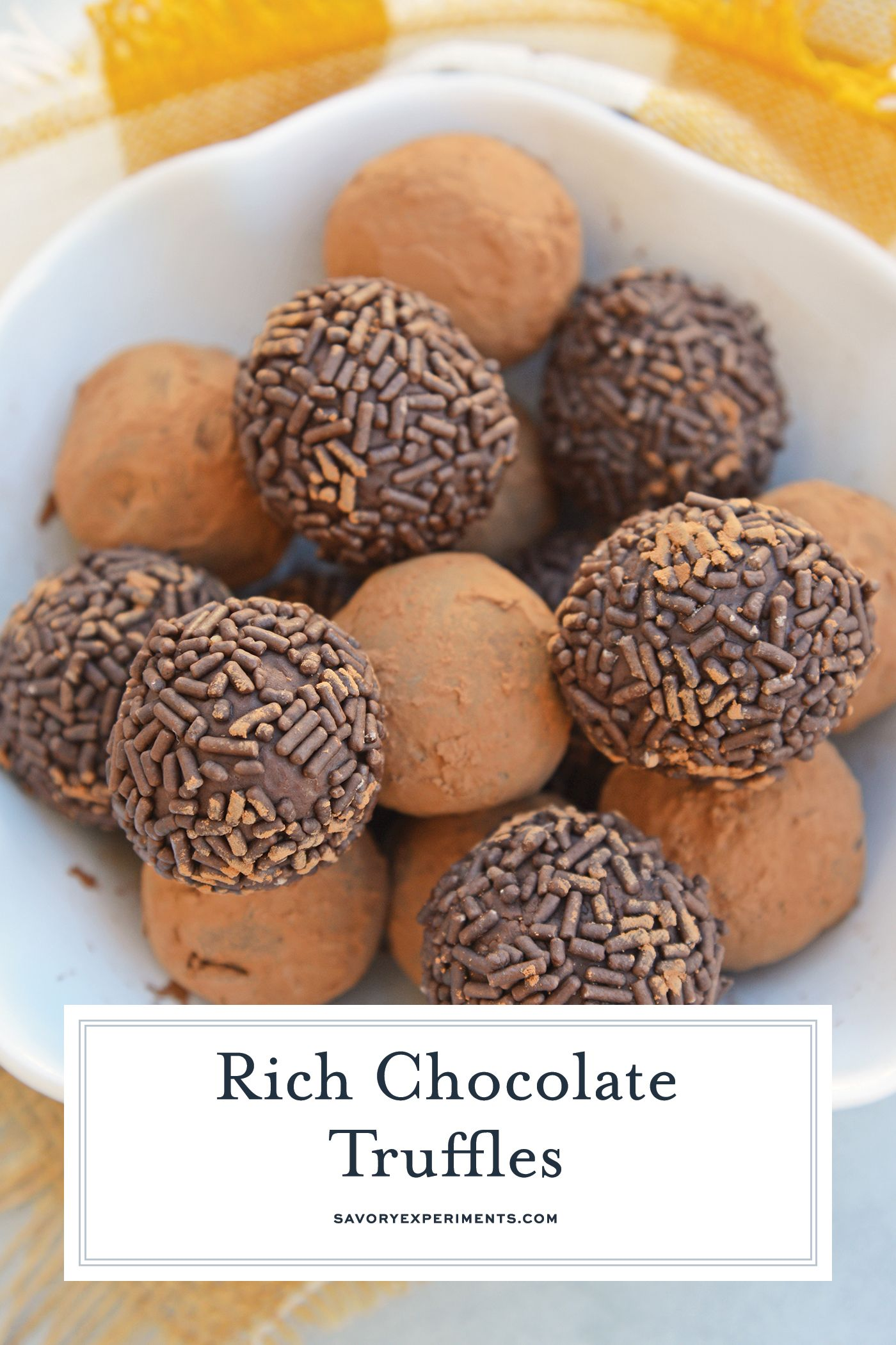 Easy Chocolate Truffles Only Use 4 Ingredients Including Sweetened Condensed Mil Chocolate Truffles Easy Recipes Using Condensed Milk Truffle Recipe Chocolate