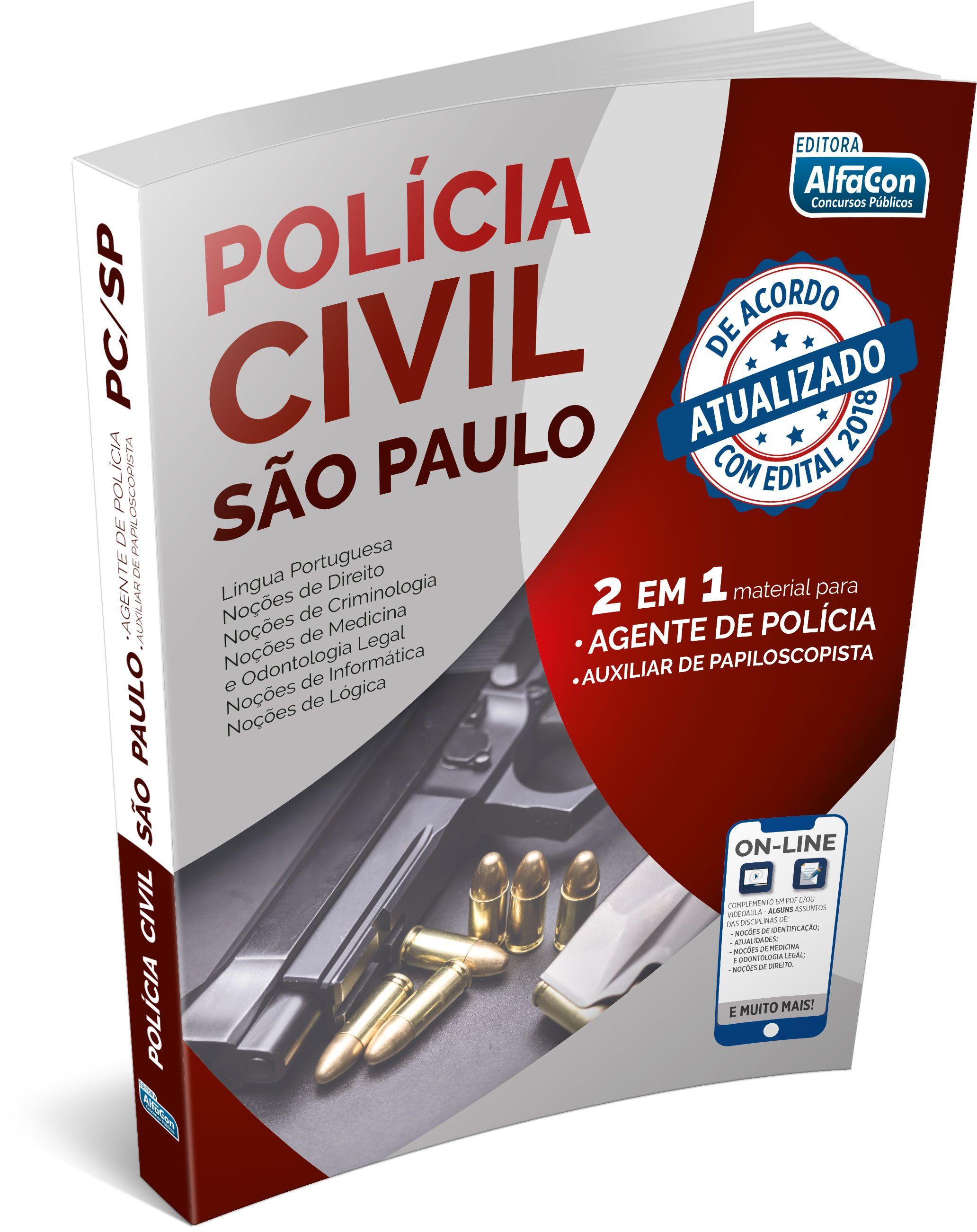 Apostila Policia Civil De Sao Paulo Agente De Policia E Auxiliar