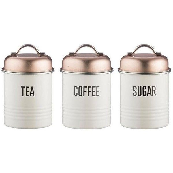 Typhoon Tea Coffee and Sugar Canisters Copper $31 ❤ liked on