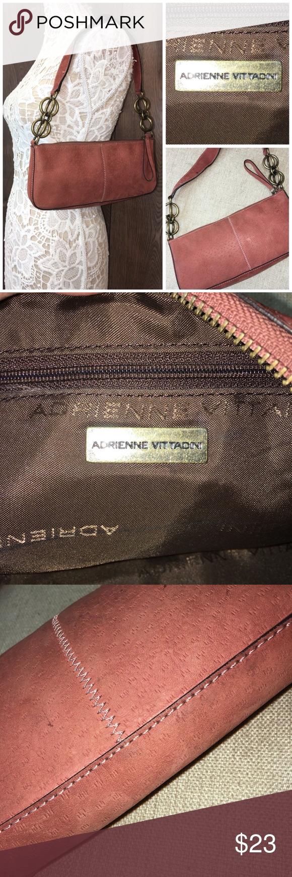 Adrienne Vittadini Suede Shoulder Handbag Clutch   Shoulder ...