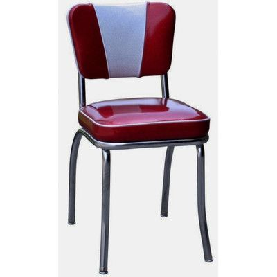 Richardson Seating Retro Home Side Chair Upholstery: Glitter Sparkle Red