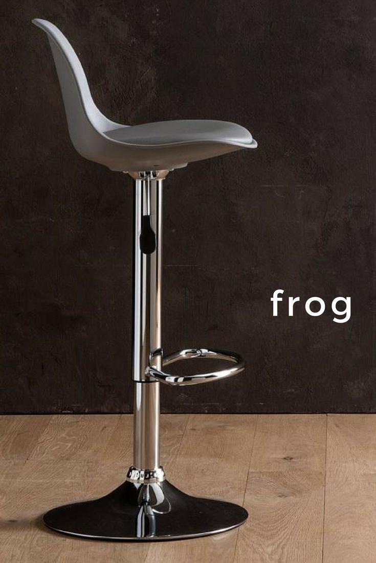 Sgabelli A Gas.Frog Sgabello Moderno Con Struttura In Metallo Ed Alzata A