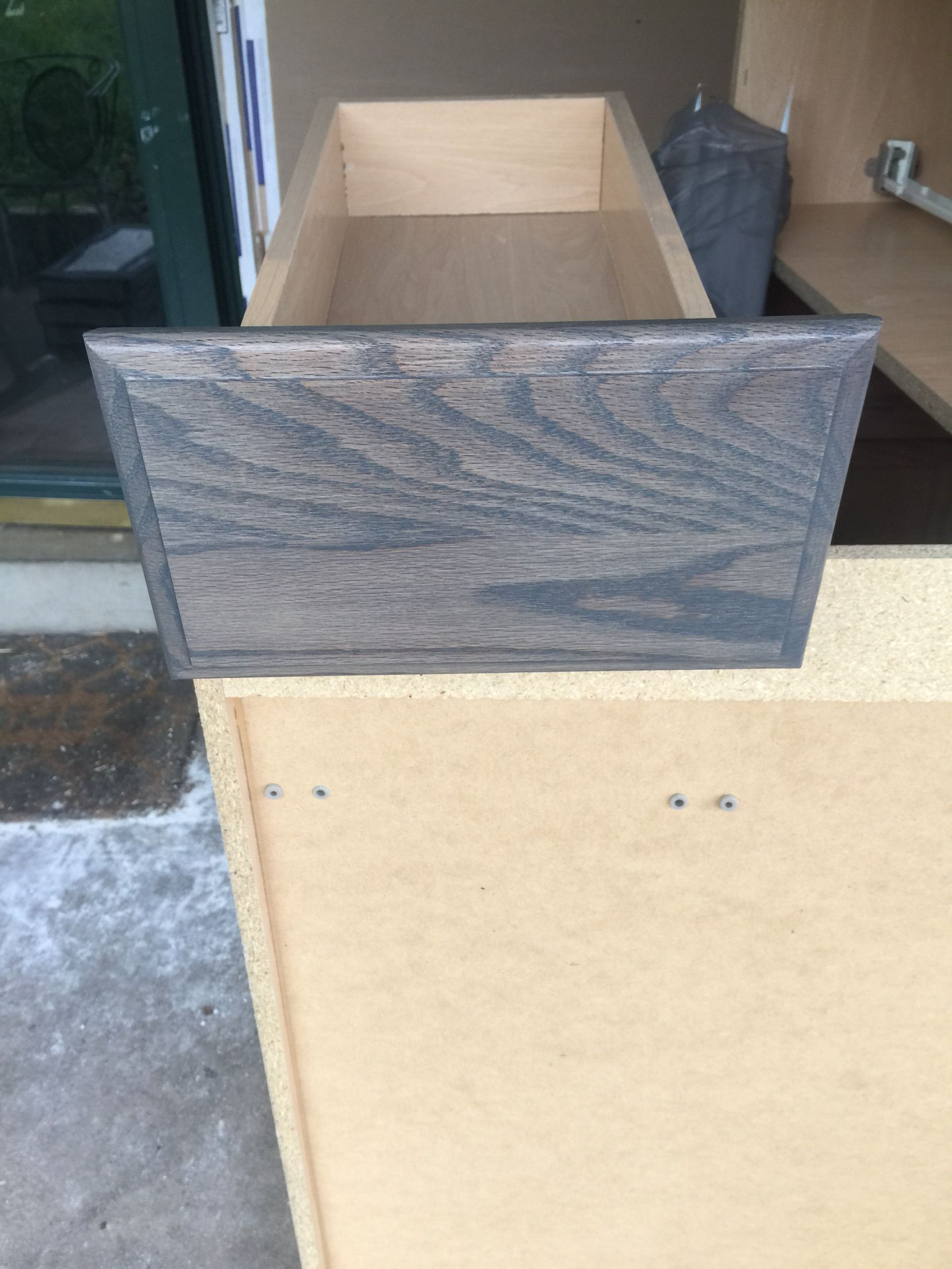 Minwax Charcoal Grey First Coat Of The Minwax Clear Tint Base Charcoal Grey Stain On