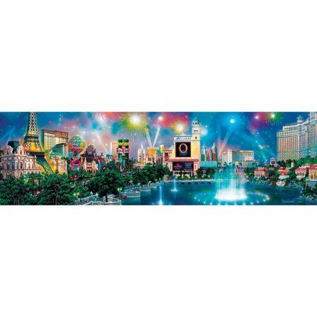 Family Kã Chen chen las vegas twilight panoramic puzzle 750 pieces