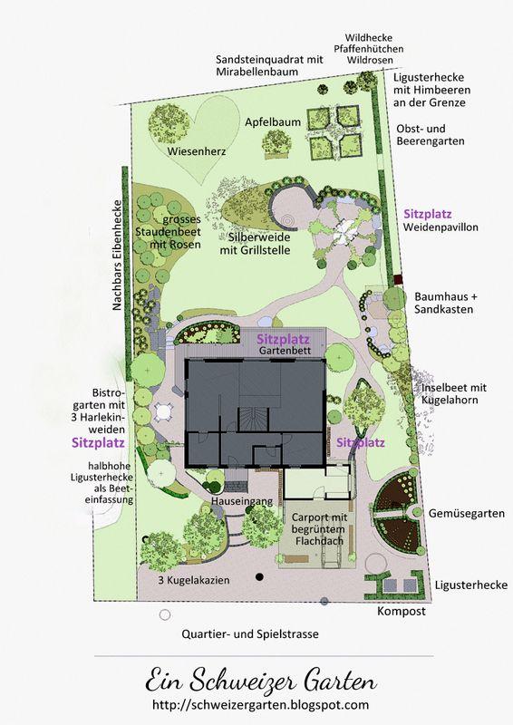 Ein Schweizer Garten Gartenplanung Garten Pinterest Ein - gemusegarten anlegen pflanzplan