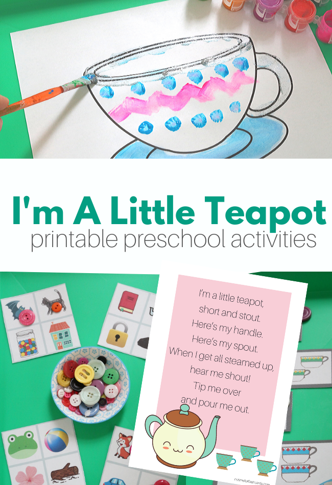 Photo of Nursery Rhyme Lesson – I'm A Little Teapot – No Time For Flash Cards