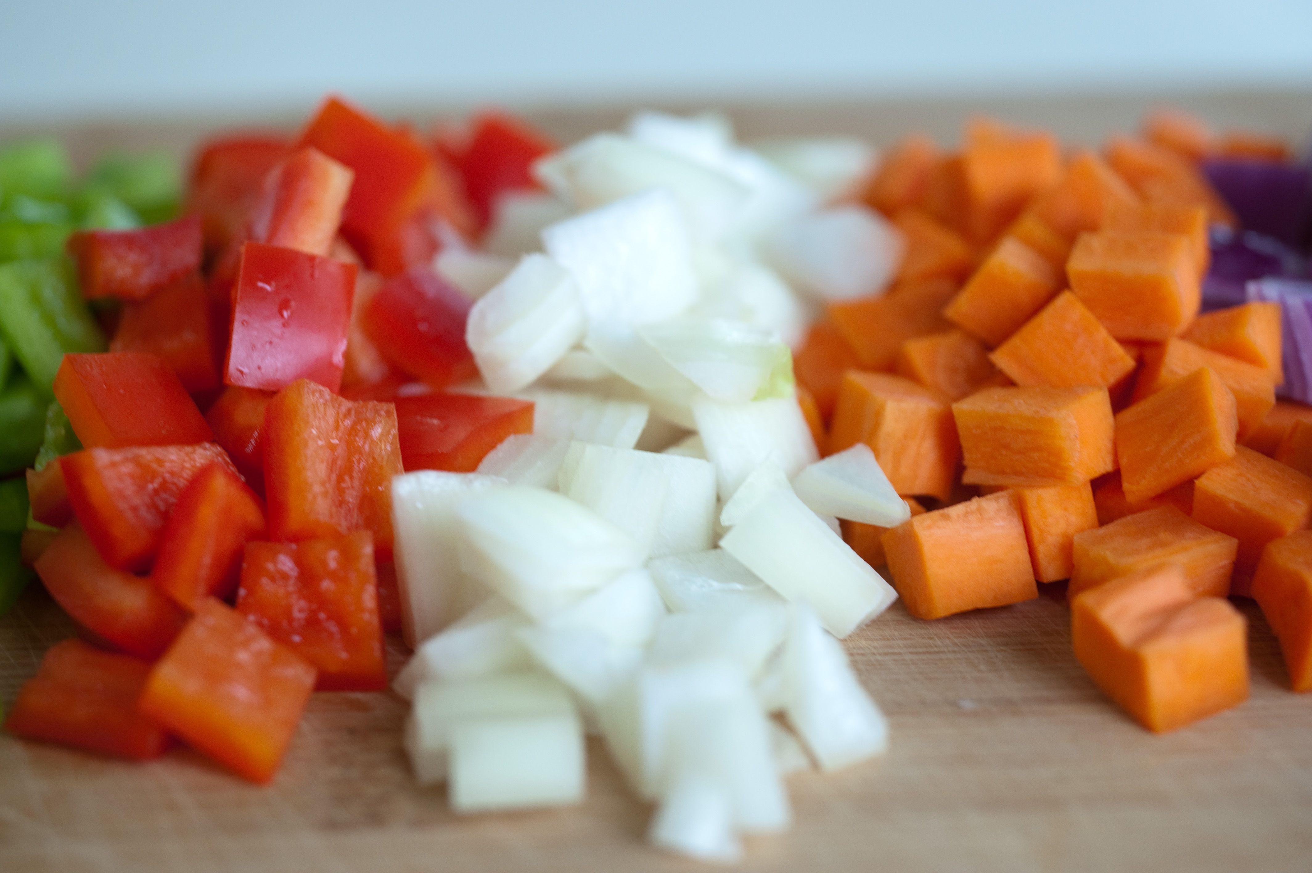 diced vegetables | Fruits & Vegetables | Pinterest