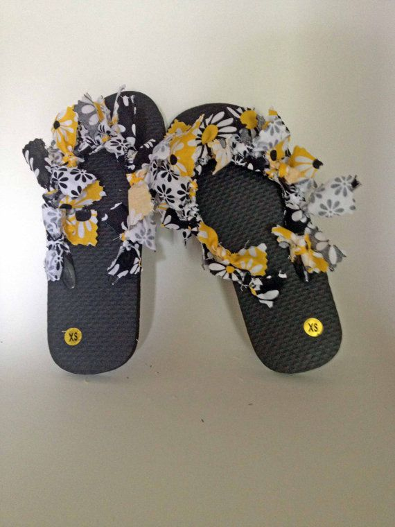 Fabric Tied Flip Flops Size Kids Extra Small By -3059