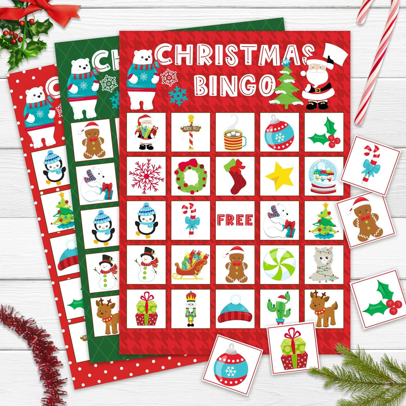 When Is Christmas In July 2020 Celebration On Etsy Christmas Bingo Printable Christmas in July Bingo For Kids | Etsy