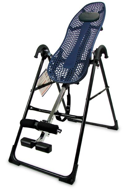 Teeter Hang Ups is an inversion device advertised as a way to treat back problems.
