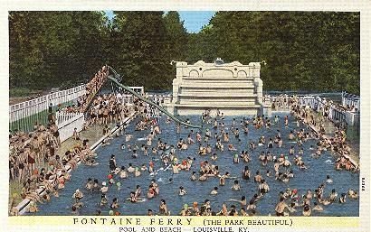 Memories of fontaine ferry park postcards historic - University of louisville swimming pool ...