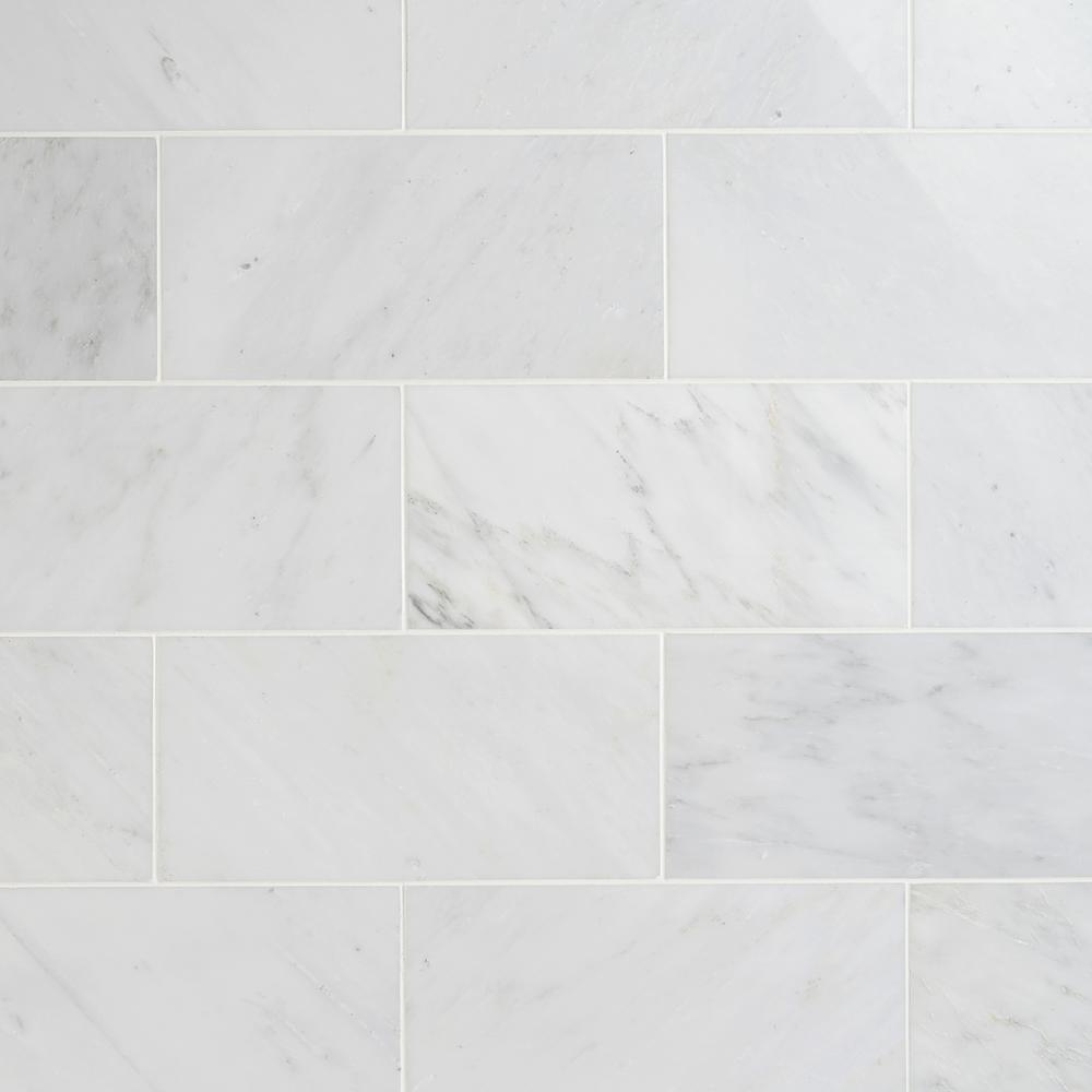 Ivy Hill Tile Oriental 6 In X 12 In X 8 Mm Marble Mosaic Floor And Wall Tile 10 Pieces 5 Sq Ft B In 2020 Polished Marble Tiles Marble Shower Tile Marble Wall Tiles
