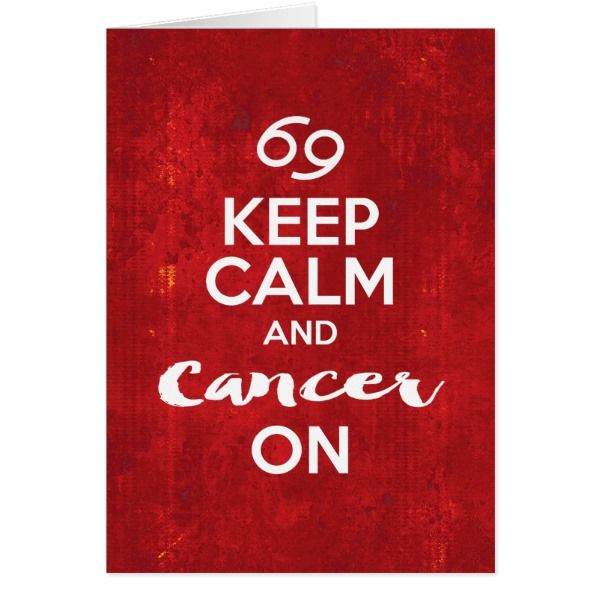 Keep Calm Cancer On Astrology Birthday Card Christmas Cards