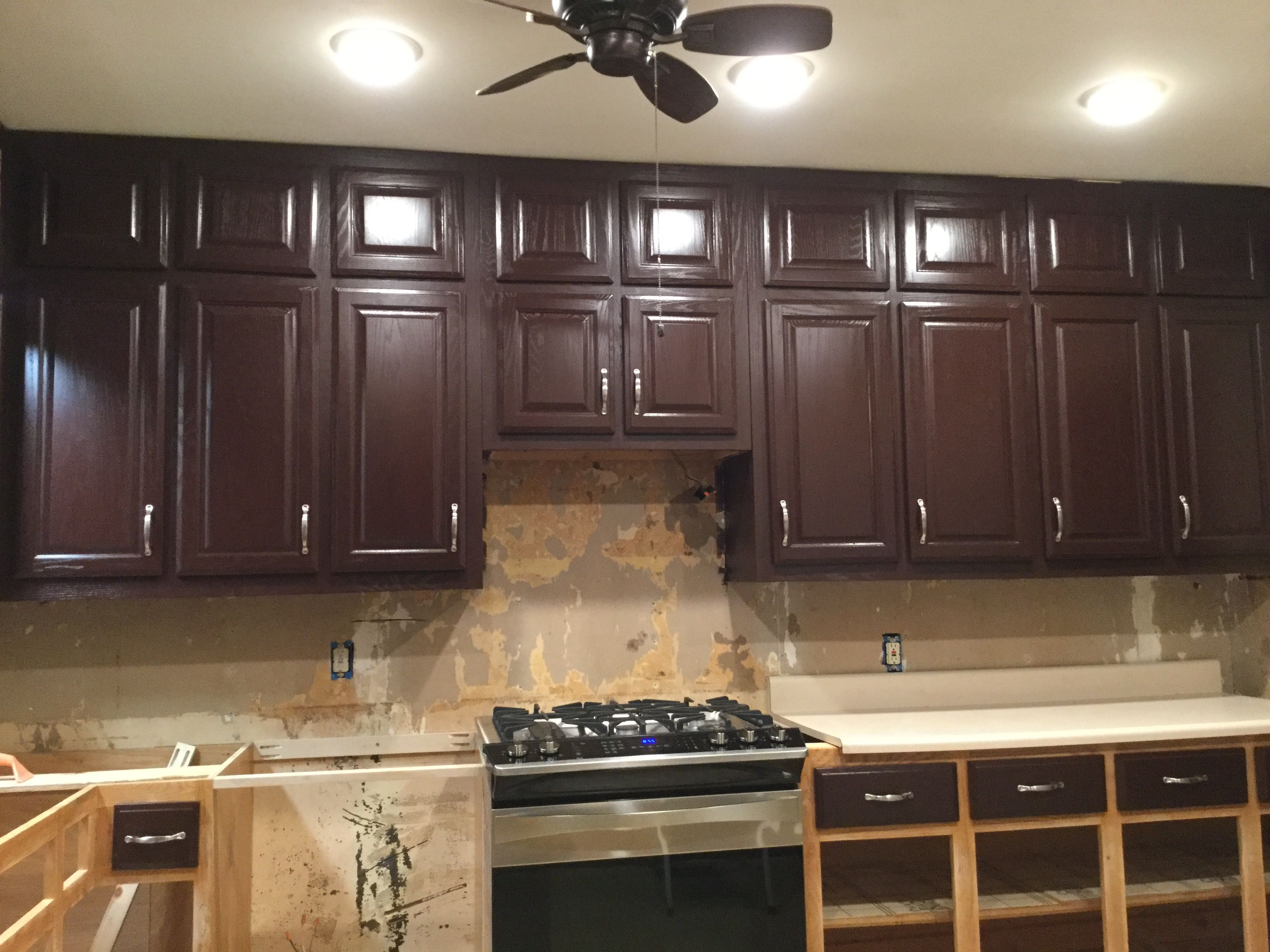 Polished Mahogany By Sherwin Williams Mahogany Cabinets Kitchen Style Kitchen Remodel