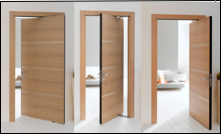ARCHITECTURAL HARDWARE - Ergon Door System... Great idea in half the space!