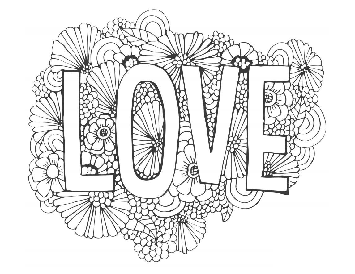 Happy Valentine S Day Coloring Book For Adults Kids 50 Printable Coloring Pages Valentine S Day Coloring Pages Pdf Instant Download In 2021