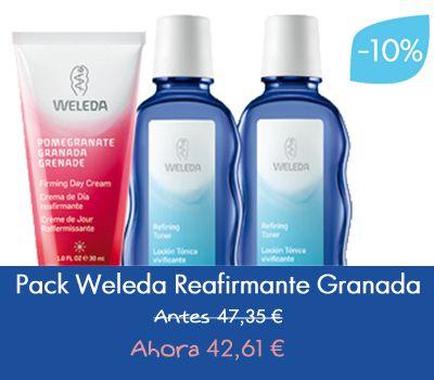 ¡Aprovecha nuestras ofertas para este #Verano!  Pack de Weleda Reafirmante con un 10% de Descuento!!  #Cosmética #Belleza #Makeup #Promoción