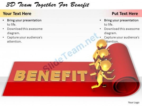 1113 3D Team Together for Benefit Ppt Graphics Icons Powerpoint #Powerpoint #Templates #Infographics