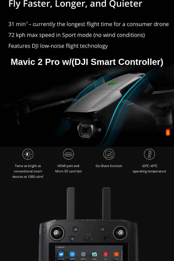 The #Mavic2 with #SmartController is now available for purchase  The