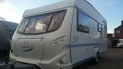 CARAVAN GEIST 535 DELUXE--GERMAN SOLID--4 BERTH--2004--2 X AWNING--NO DAMP--: £5,200.00 End Date: Wednesday Mar-23-2016… #caravan #caravans