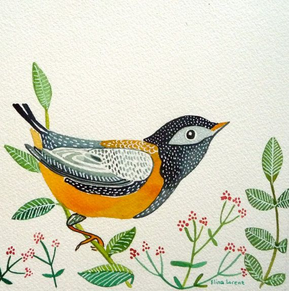 Bird / Art / Painting /Original /Watercolor / by sublimecolors, $29.99