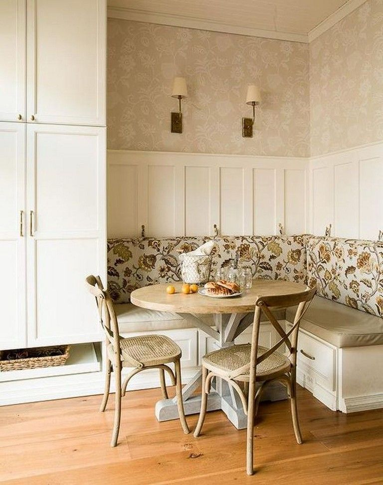 40+ Elegant Farmhouse Banquette Seating In Kitchen Decor Ideas images