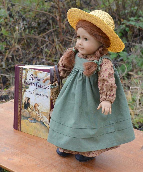 Anne of Green Gables Doll Outfit with Hat by TaylorsScarletThread
