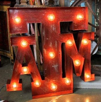 Perfect Gift For Dad.a Light Up ATM Distressed Metal Sign. Get It For The  Aggie Fan In Your Life At Fiddlin Frogs