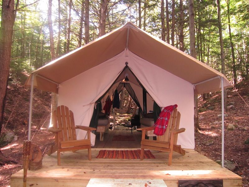 Luxury Tents Glamping Upstate in Johnsburg | Glam camping ...
