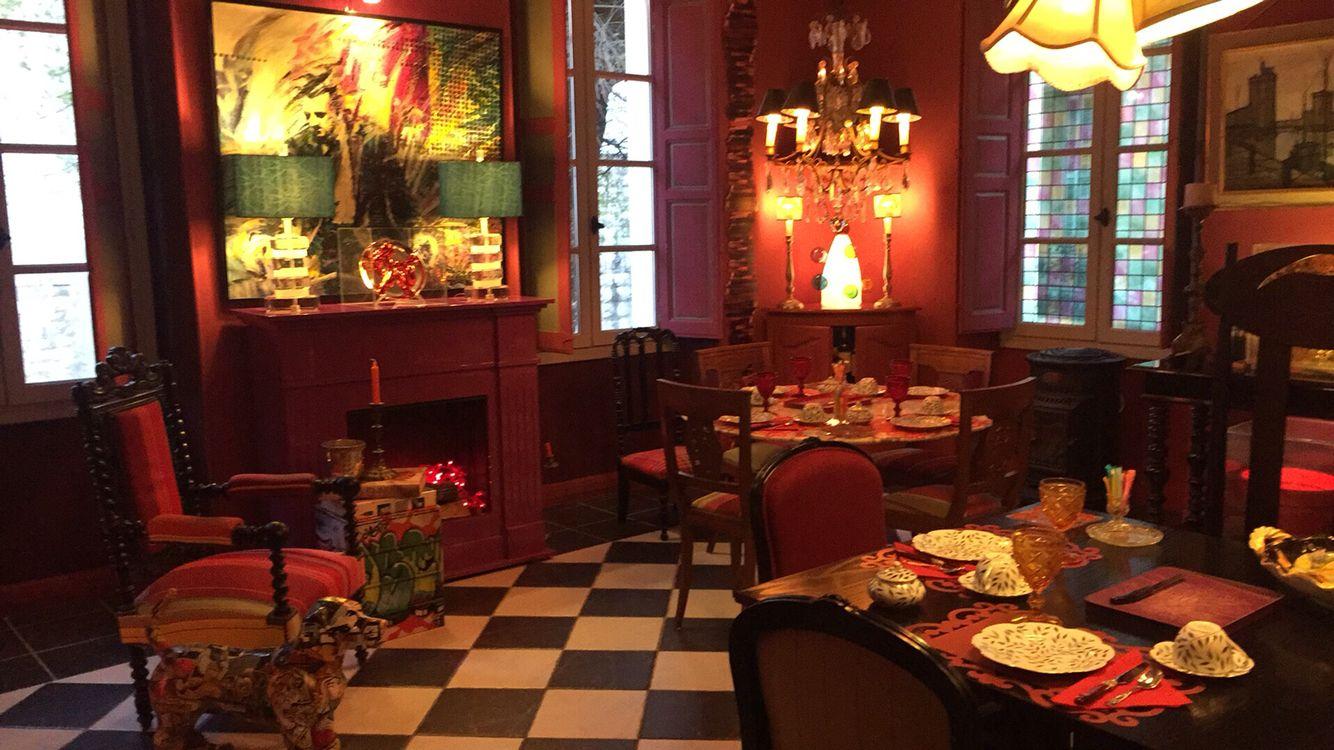 Dining at maison de frene Vence