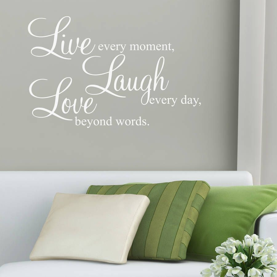 Wall Sticker Quotes Gorgeous Live Laugh Love' Wall Stickers Quotes  Pinterest  Wall Sticker