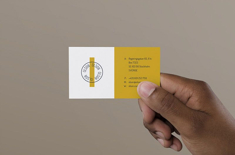 right hand holding business card mockup 2020  business